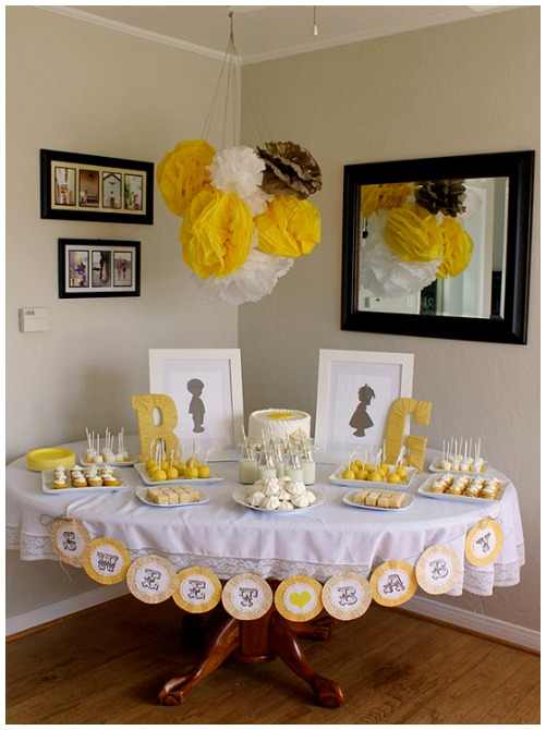 Yellow gender reveal party