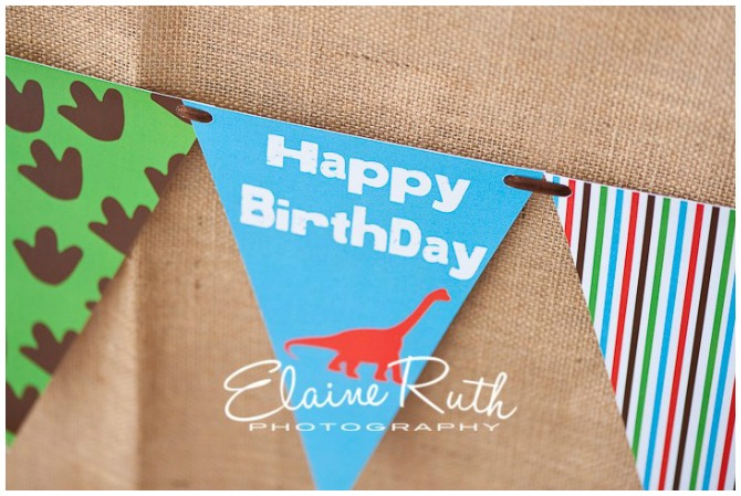 Dinosaur birthday party bunting