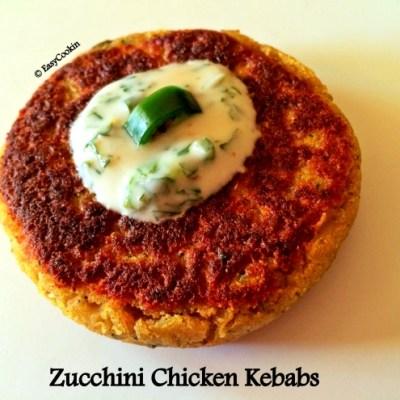 Indian Zucchini & Chicken Kebabs