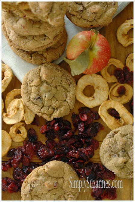 Apple and Cranberry Brown Sugar Cookies