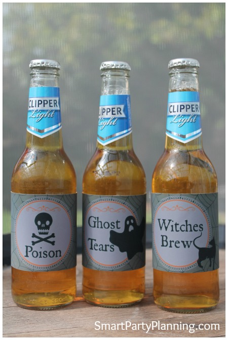 Halloween Printable Beer Labels