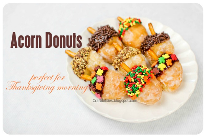 Acorn Donuts Thanksgiving Treats
