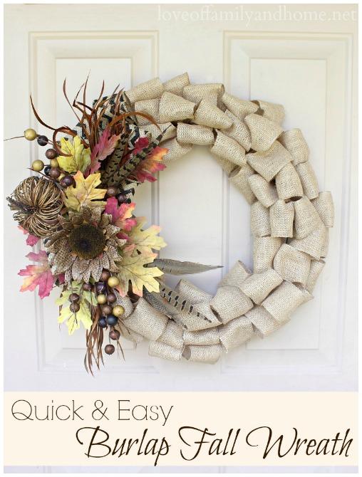 Burlap Thanksgiving Wreath