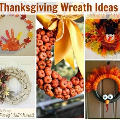 5 Thanksgiving Wreath Ideas
