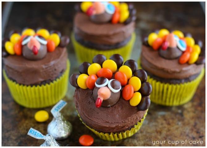 Chocolate Turkey Cupcakes