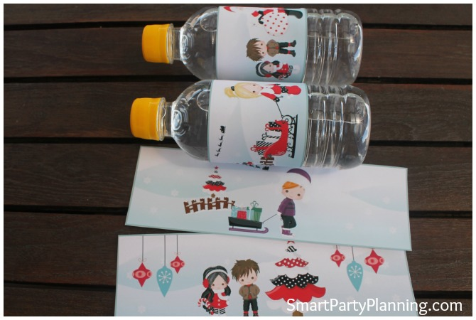 Cute Christmas Water Labels