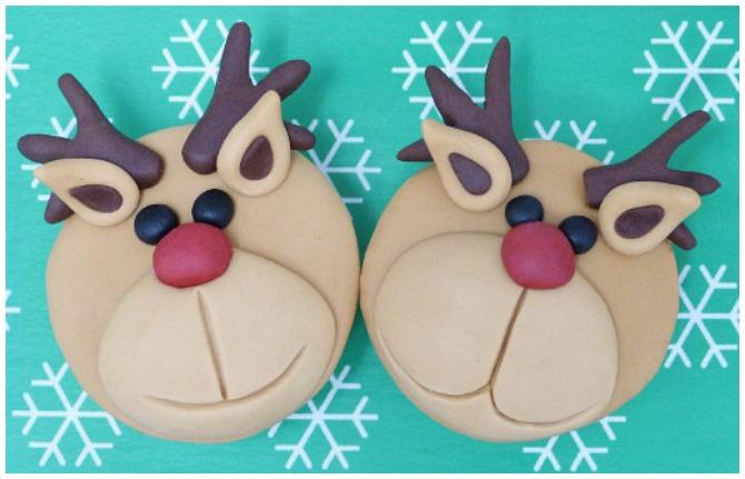 Fondant Reindeer Cupcakes