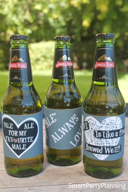 3 Valentine beer labels