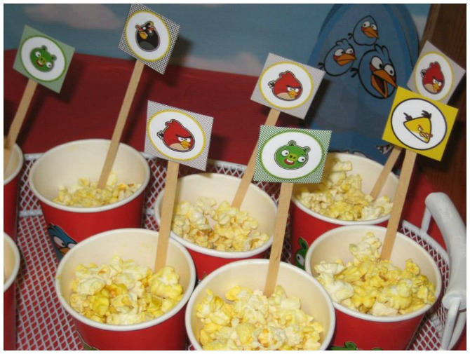 Angry Bird Popcorn Cups