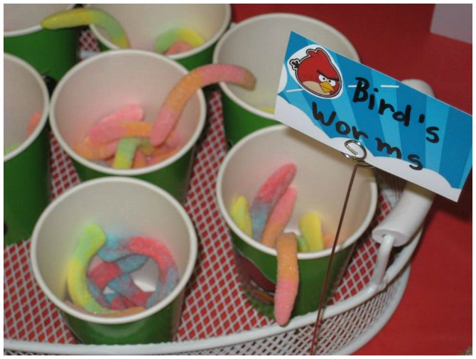 Angry Bird Worms