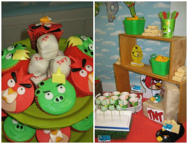 Angry Birds Dessert Stand