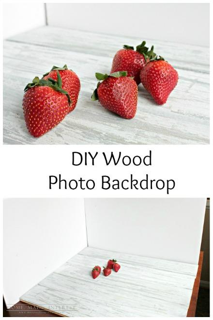 DIY Photo Wood Backdrop