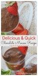 Quick chocolate mousse recipe