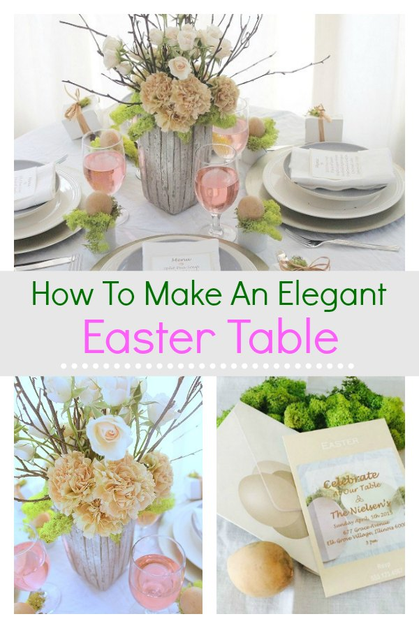 How to make an elegant Easter table