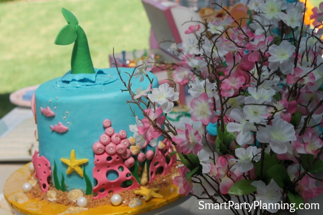Mermaid Cake and Flowers