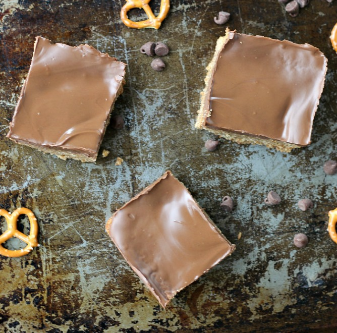 Pretzel Chocolate Bars