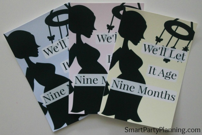 Printable Baby Shower wine labels