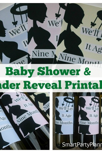 Baby Shower Gender Reveal Printables