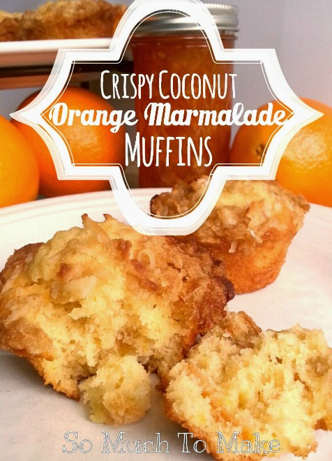 Coconut marmalade muffins