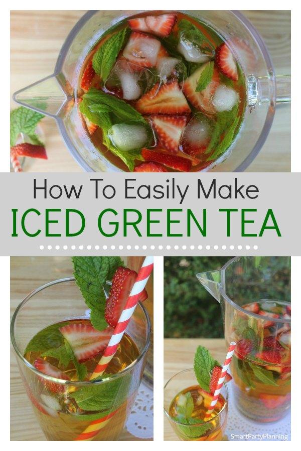 How to make iced green tea