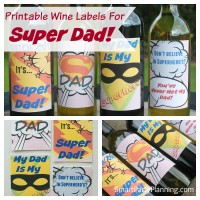 Printable Cool Wine Labels For Super Dad