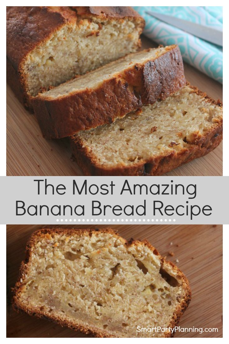 This is the best ever simple, easy moist banana bread recipe. It will make your family think you have turned into a baking domestic goddess. It's light, fluffy & incredibly delicious. This will soon be an easy family favorite recipe. It contains banana's so you could even pretend it;s healthy and eat it for breakfast! #bananabreadrecipe #Easy #Best #Moist #Breakfast