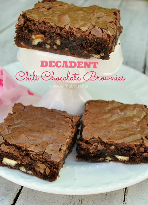 Decadent Chili Chocolate Brownies-P