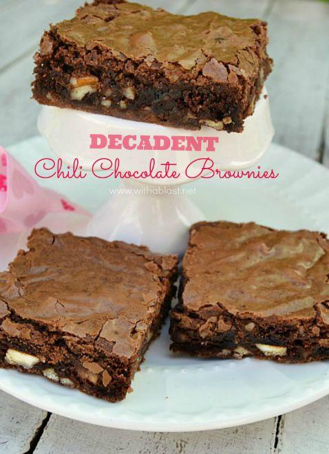 Decadent Chili Chocolate Brownies-P