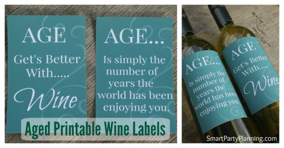 Printable Fun Wine Labels