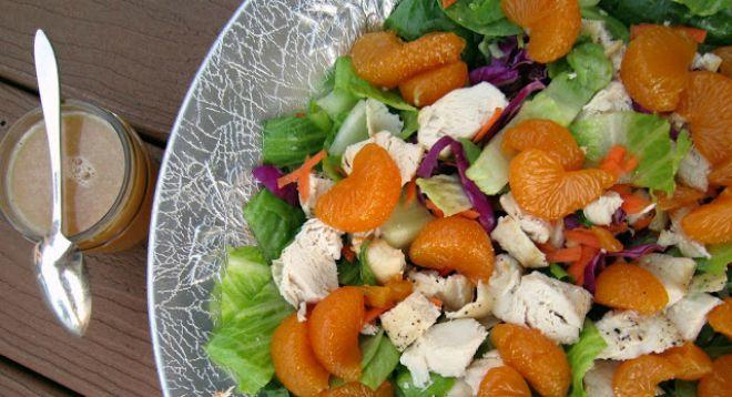 chicken and orange mandarin salad grain dairy free