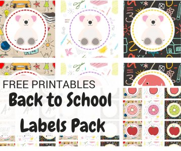 Back to school labels pack