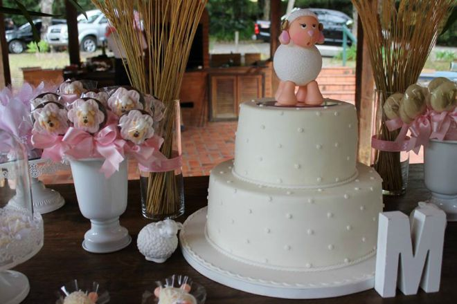 Lamb baptism cake