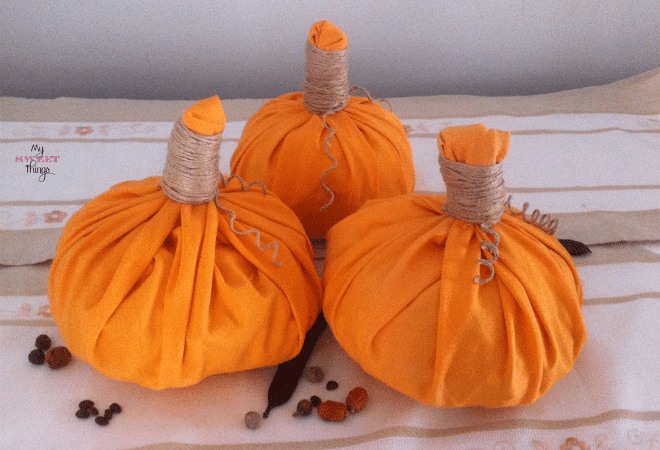 Easy Fabric Pumpkins