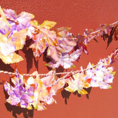 Create A Colorful Fall Leaf Garland