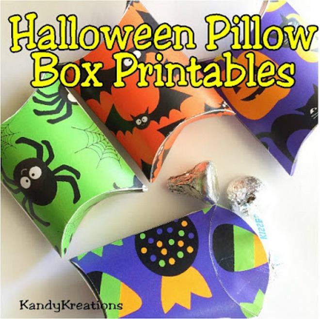 Halloween Pillow Box Printables