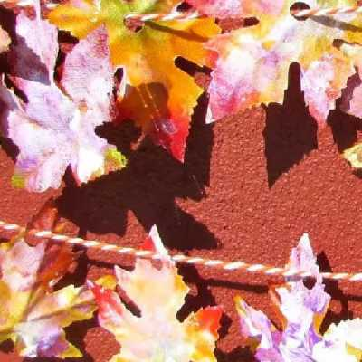 How To Easily Make A Colorful Fall Leaf Garland