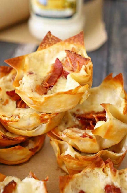 Bacon Alfredo Cheese Cups