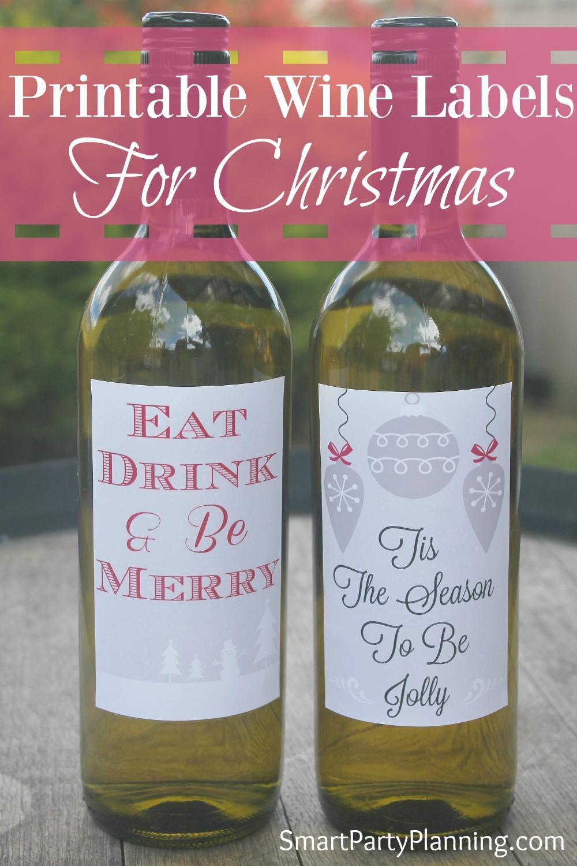 Christmas Wine Bottle Labels - Pinterest