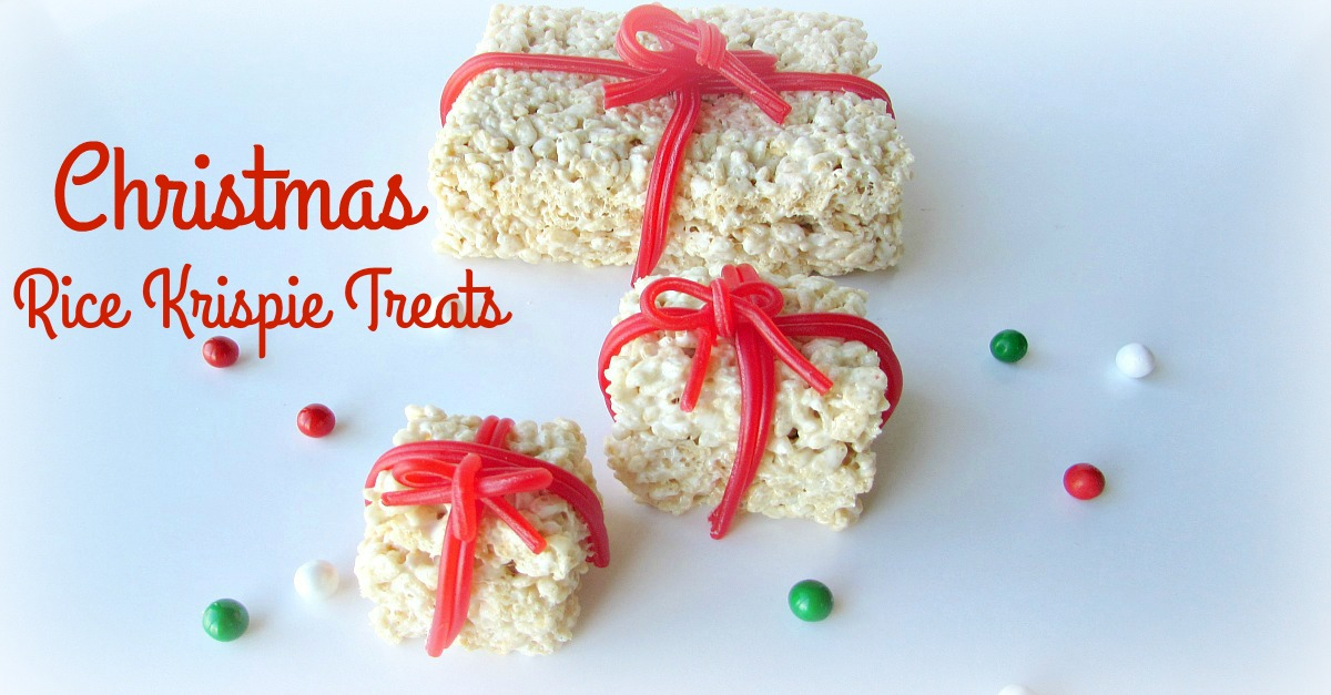 Easy Christmas Present Rice Krispie Treats