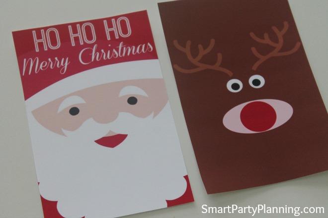 Printable Santa & Rudolf Wine Labels