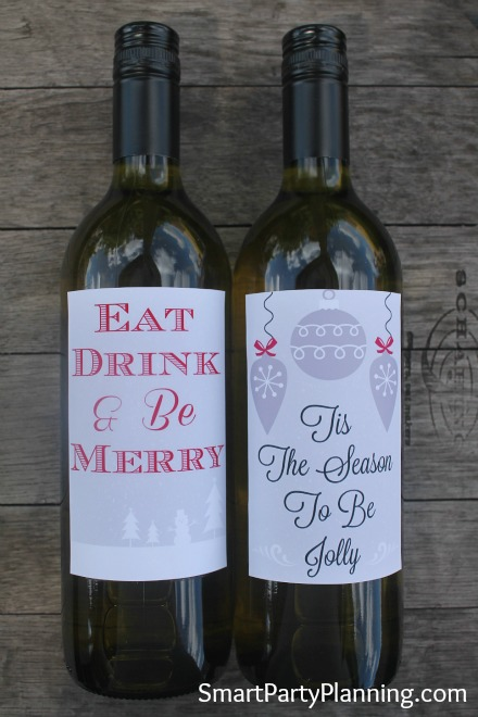 graphic regarding Printable Wine Label named Printable Wine Labels For Xmas
