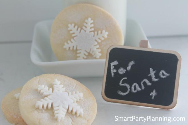 Shortbread snowflake cookie recipe