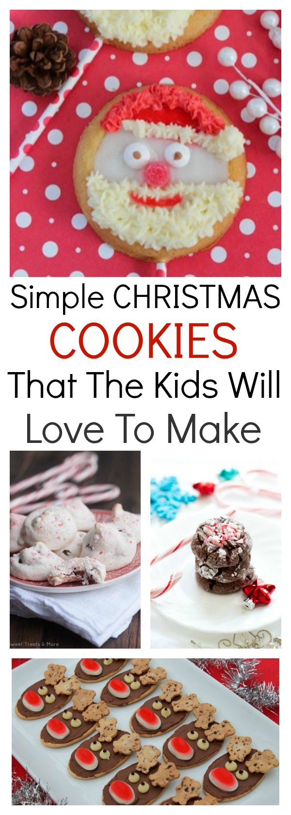 This collection of simple Christmas cookies will have you in the kitchen with the kids quick smart. Cute, easy & delicious, they are perfect for Christmas.
