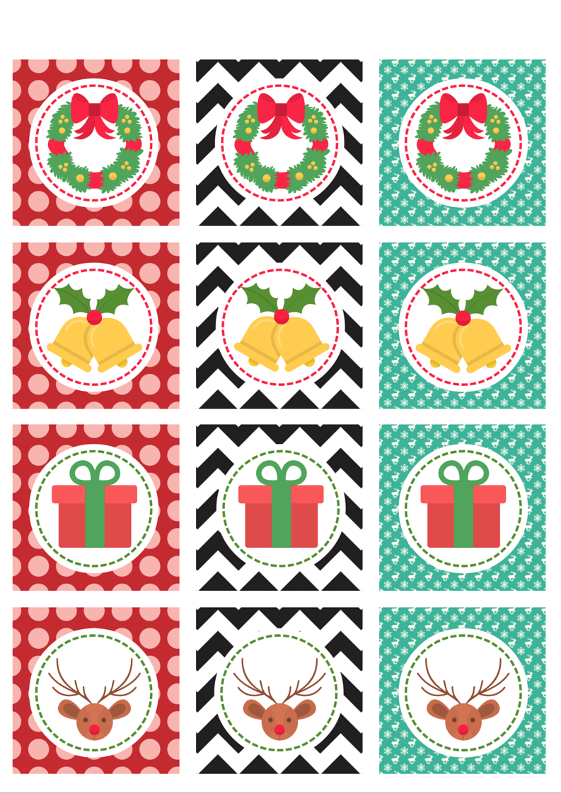 Christmas cupcake toppers 3