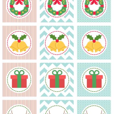 Christmas Cupcake Toppers – Free Printables