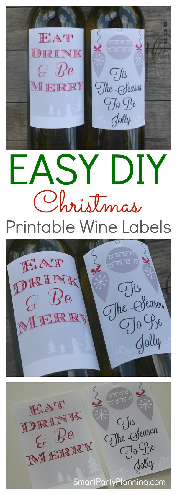 Printable wine labels for christmas the perfect way to create festive cheer is with some diy printable christmas wine labels maxwellsz