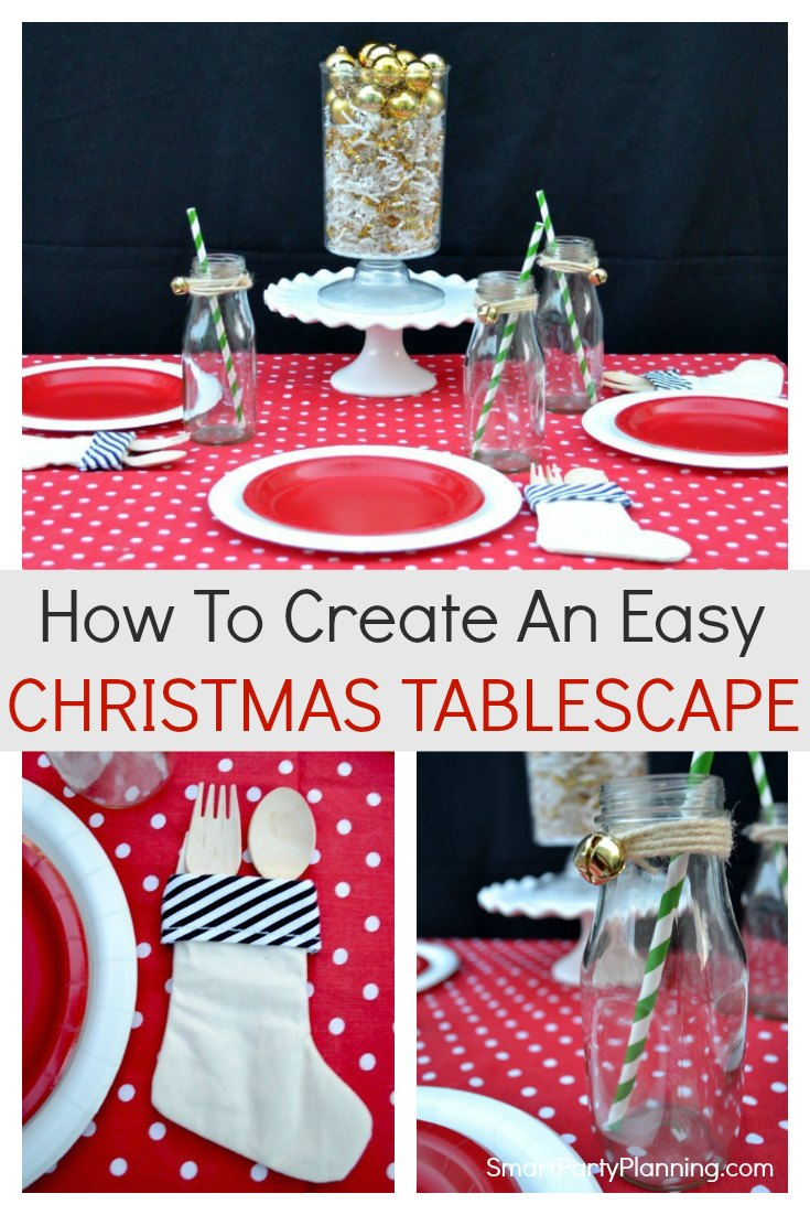How to create an easy Christmas Tablescape