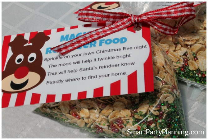 Magic reindeer food gift tags