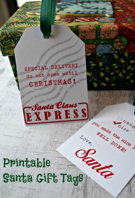 Santa gift tags printable