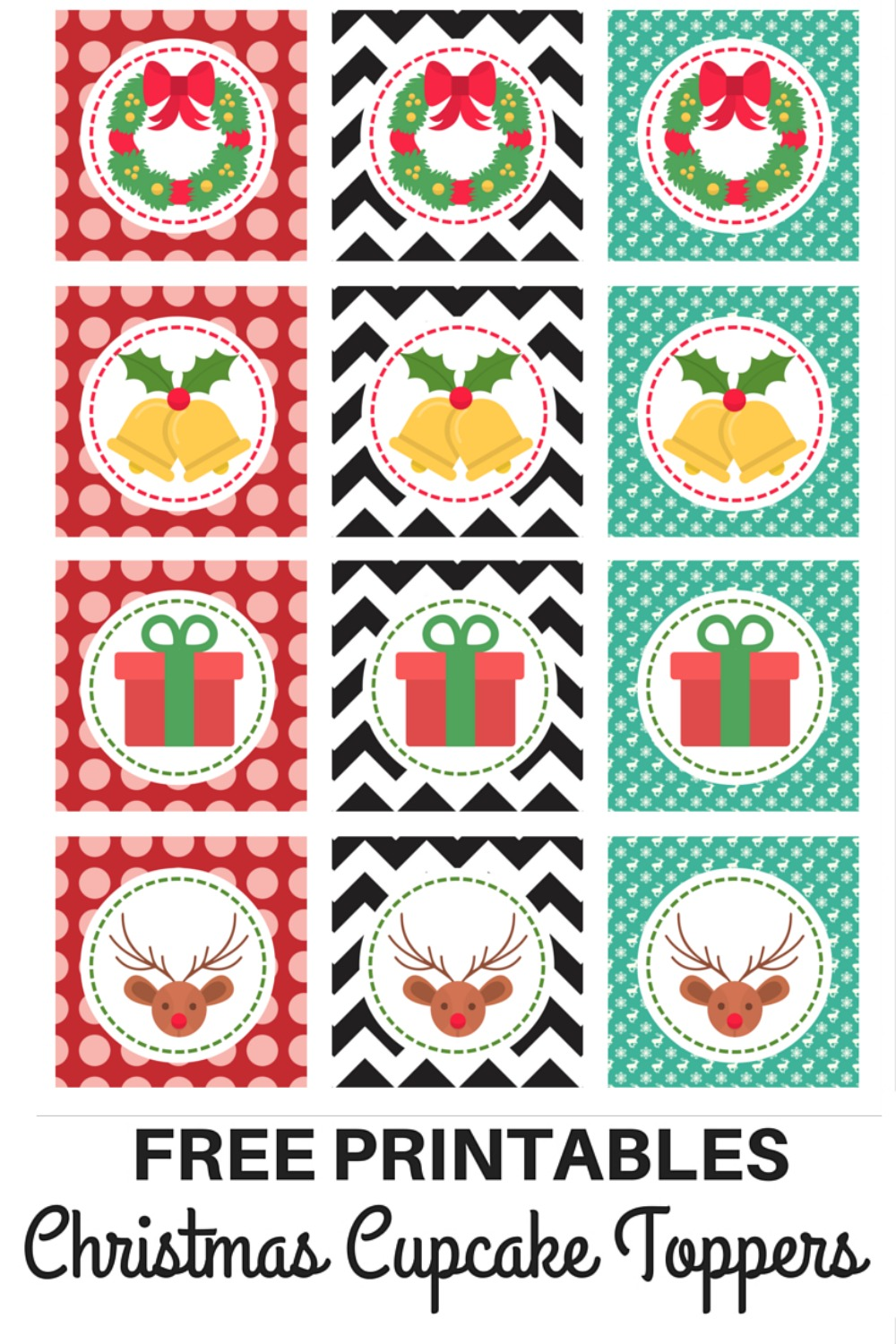 These FREE Christmas cupcake toppers are easy to download and use at your Christmas parties. They are great for party styling.